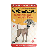 "Wags & Whiskers  Dog Sign/Plaque ""Weimaraner"" - Tin Plaque"