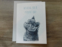 East Of India - Animal greeting card - Wishing you a purrfect day
