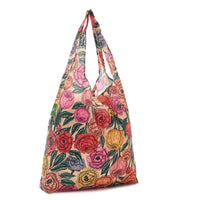 New 2020 Eco Chic 100% Recycled Foldabe Peonies Print Reusable Shopper Bag