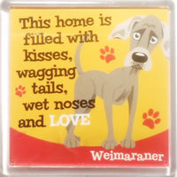 "Wags & Whiskers Dog Magnet ""Weimaraner"" by Paper Island"