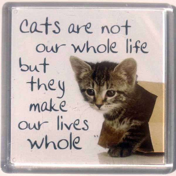 Heart And Home Sentiment Fridge Magnet - Animal MAG-099 / Cats are not our whole life but they make our lives whole