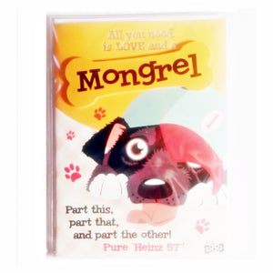 "Dog Greeting Card ""Mongrel"" by Paper Island"