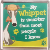 "Wags & Whiskers Dog Magnet ""Whippet"" by Paper Island"
