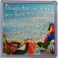 History & Heraldry Sentiment Fridge Magnet - MAG-054 - Daughter, we love you