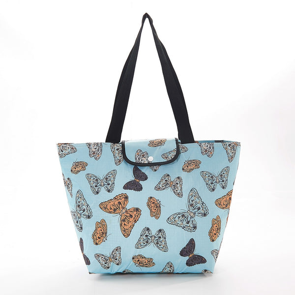 Large Cool Bag by Eco Chic Fully Insulated Ideal For Picnic Butterflies Print - Blue