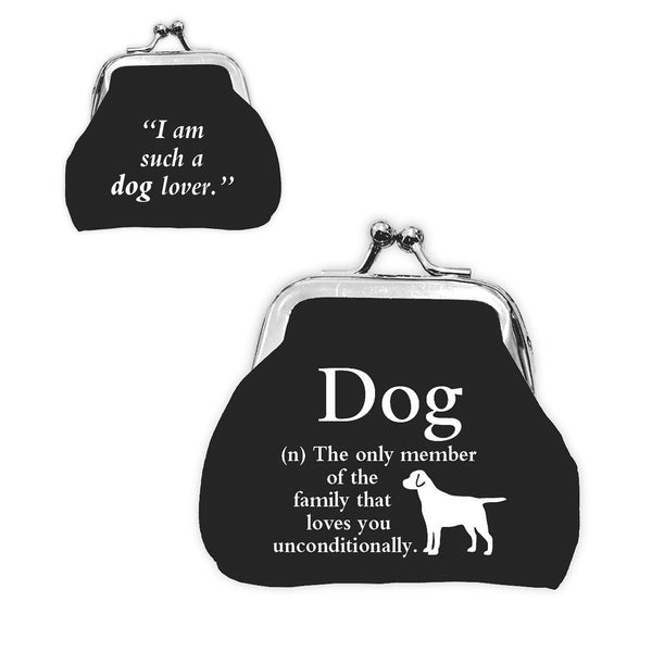 "Urban Words Mini Clip Purse ""Dog"" with urban Meaning"