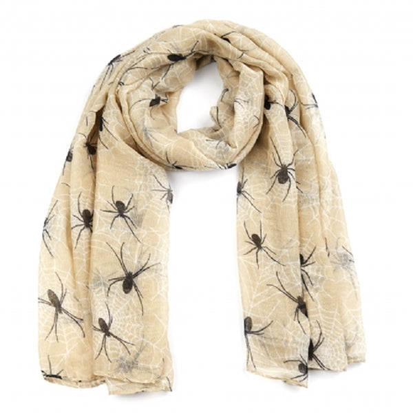 The Spider Print Is a Clever All Over Print Long Scarf animal print