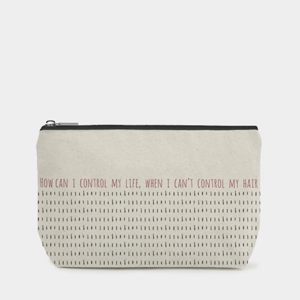 East Of India - Toiletry / Cosmetic Bag - Can't Control My Hair