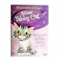 "Wags & Whiskers Cat Greeting Card ""Silver Tabby Wags & Whiskers Cat Nap Loving"" by Paper Island"