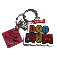 "Wags & Whiskers Dog Key Ring ""Proud Wags & Whiskers Dog Mum"" by Paper Island"