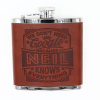 "Top Bloke Mens Gift Hip Flask for Him -  Treat for ""Neil"""