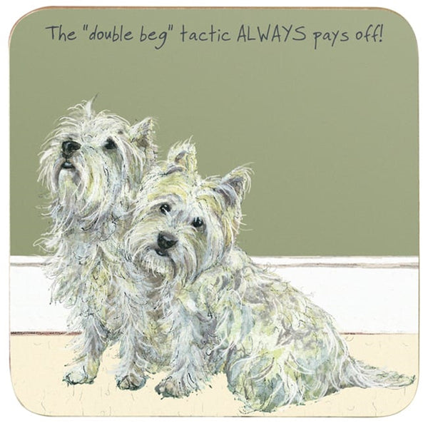West Highland Terrier Coaster - Double Beg