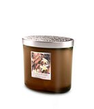 Sandalwood & Vanilla Fragranced 2 Wick Ellipse Candle from Heart & Home