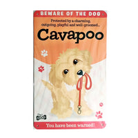 "Wags & Whiskers  Dog Sign/Plaque ""Cavapoo"" - Tin Plaque"