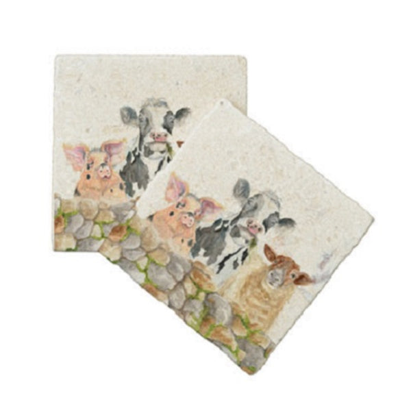 FARMYARD COASTER SET OF 4