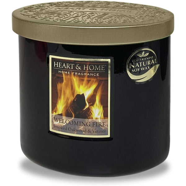 Heart & Home Twin Wick Candle - Welcoming Fire