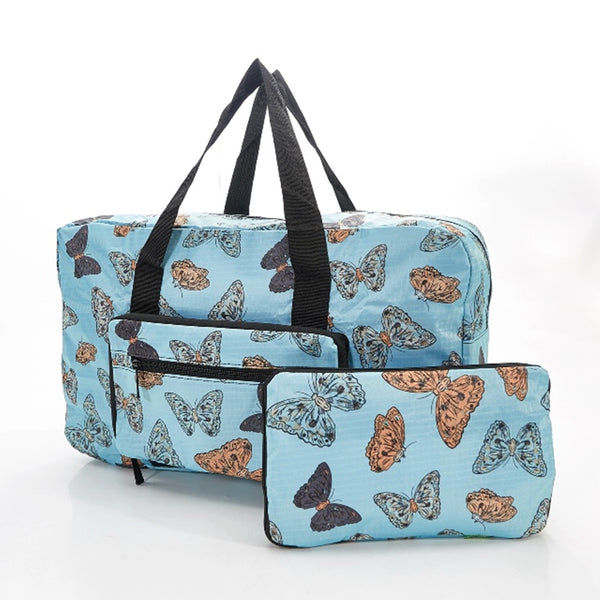 Eco-Chic Blue Butterfly Print Holdall
