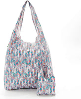 White Feather Foldable Shopper By Eco Chic