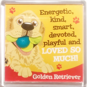 "Wags & Whiskers Dog Magnet ""Golden Retriever"" by Paper Island"
