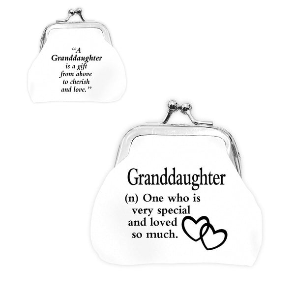 "Urban Words Mini Clip Purse ""Granddaughter"" with urban Meaning"