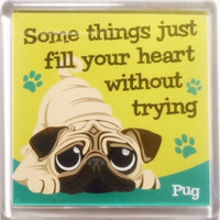 "Wags & Whiskers Dog Magnet ""Pug"" by Paper Island"