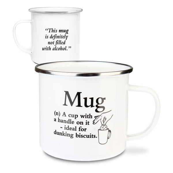 "Urban Words Tin Mug ""Mug"" Title and Slang words including Meaning."