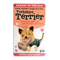 "Wags & Whiskers  Dog Sign/Plaque ""Yorkshire Terrier"" - Tin Plaque"