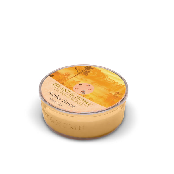 Heart & Home Amber Forest Scented Soy Wax Scent Cup