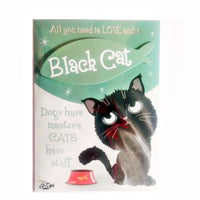 "Wags & Whiskers Cat Greeting Card ""Black Wags & Whiskers Cat, Forever Hungry"" by Paper Island"