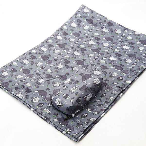 Eco Chic Foldaway Water Resistant Picnic Blanket - Grey Sheep