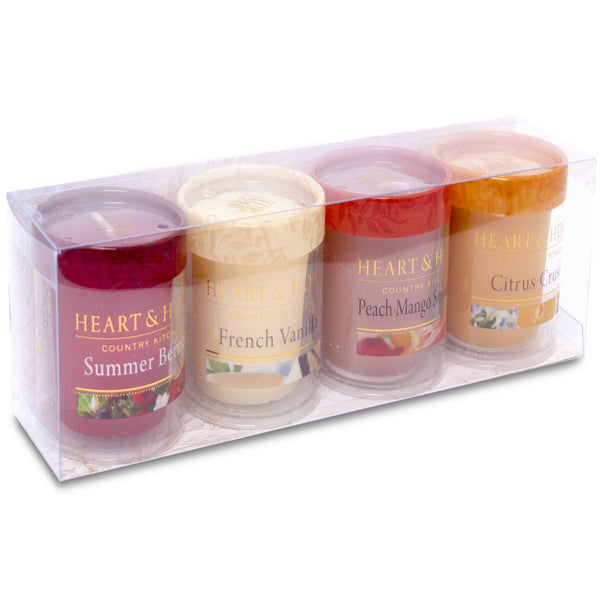 Heart & Home candle 4 votive gift set
