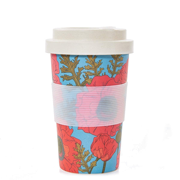 Eco Chic Poppies Bamboo Cup