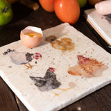 The British Collection: Hens Medium Platter By Kate of Kensington