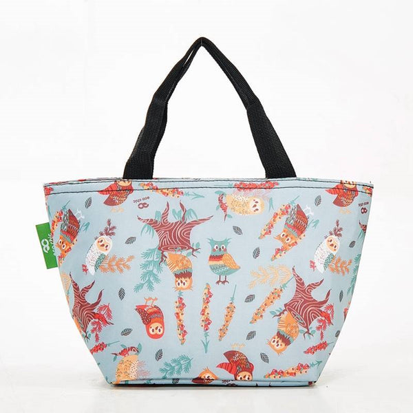 Expandable Cool Bag/Lunch Bag/Insulated Bag - New Owls by Eco Chic