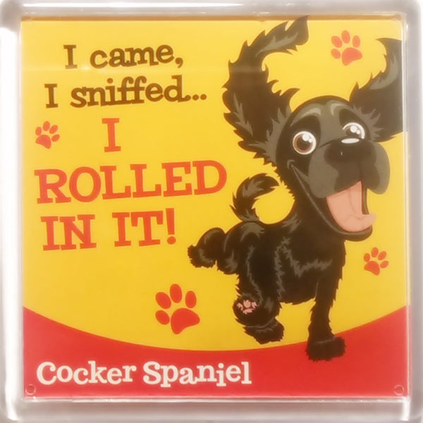 "Wags & Whiskers Dog Magnet ""Cocker Spaniel (Black)"" by Paper Island"