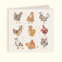 The British Collection of Hens Greeting Card