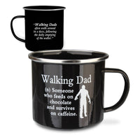 "Urban Words Tin Mug ""Walking Dad"" Title and Slang words including Meaning."