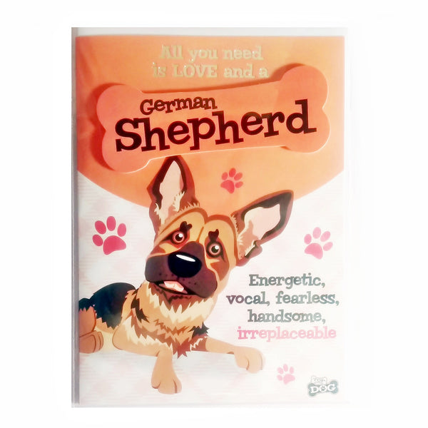 "Wags & Whiskers Dog Greeting Card ""German Shepherd"" by Paper Island"