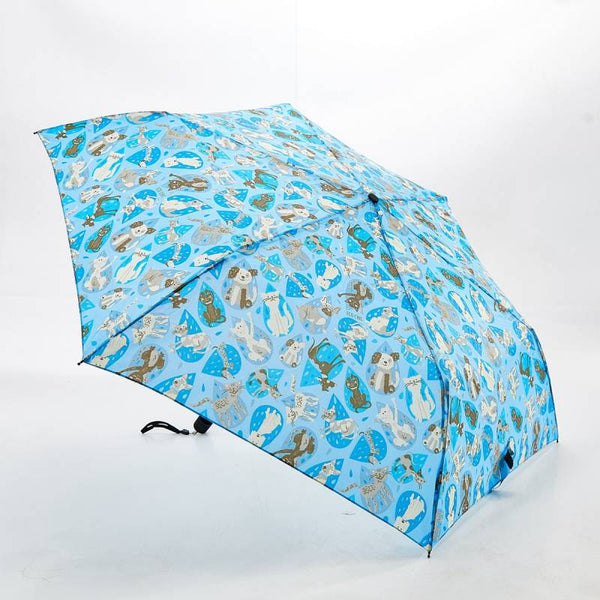 Blue Rainy Cat And Dog Mini Umbrella by Eco Chic