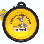 WHIPPET COLLAPSIBLE TRAVEL DOG BOWL GIFT