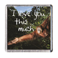 "Fridge magnet ""I love you this much"" by History & Heraldry"