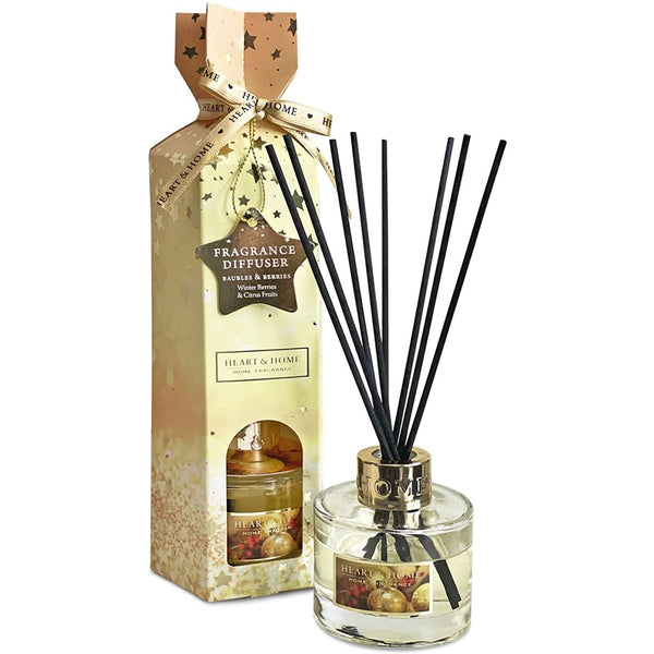 Heart & Home Christmas Fragrance Diffuser 75ml (Baubles & Berries)