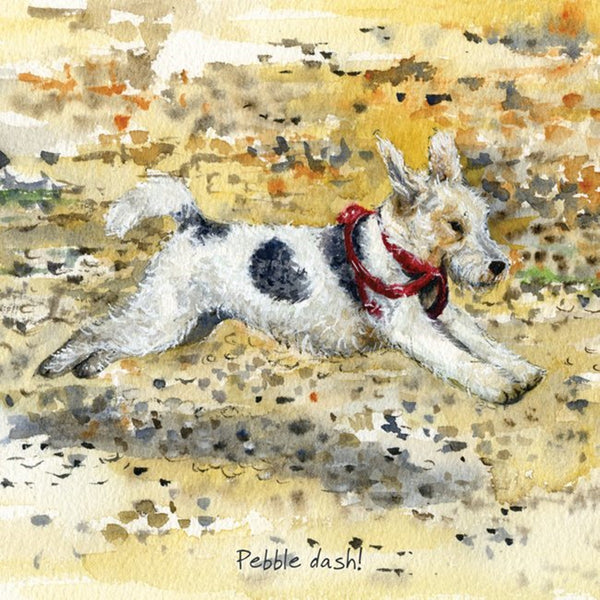 Fox Terrier Greeting Card – Pebble dash