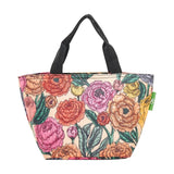 Lightweight Foldable Lunch Bag Peonies by Eco Chic