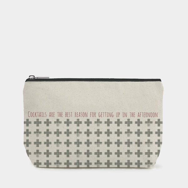 East Of India - Toiletry / Cosmetic Bag - Cocktails Are The Best Reason