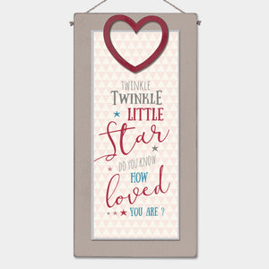 East of India - Long wood sign - Twinkle, twinkle
