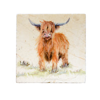 HIGHLAND COW MEDIUM PLATTER