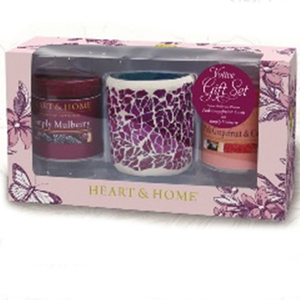 Summer Votive Candle Gift Set - Simply Mulberry & Pink Grapefruit