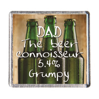 History & Heraldry Sentiment Fridge Magnet - MAG-004 - Dad The beer connoisseur 5.4% Grumpy