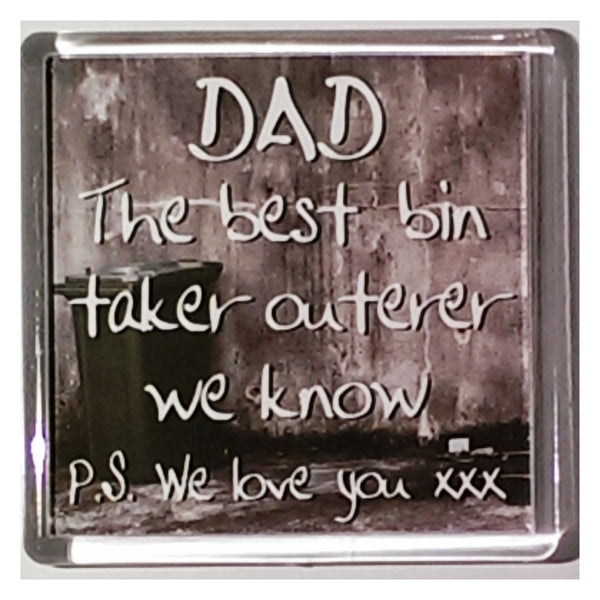History & Heraldry Sentiment Fridge Magnet Dad Best Bin Taker Outerer